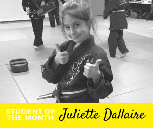 in Ottawa - 100% Martial Arts & Fitness - Kids Student of the Month - Juliette!