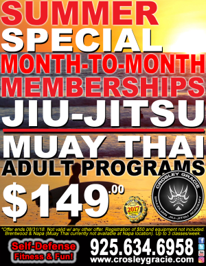 in Brentwood - Crosley Gracie Jiu-Jitsu - Month-To-Month Summer Specials