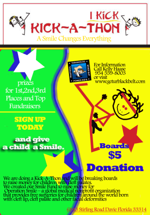 in Davie and Cooper City - Traditional Taekwon-Do Center Of Davie - Kick-A-Thon Operation for Operation Smile | Davie Martial Arts
