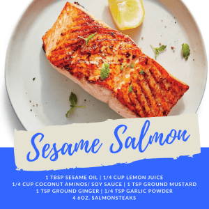 Personal Training  in San Jose - 5:17 Total Body Transformations - Recipe of the Week: Sesame Salmon