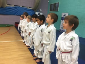 in Leicester - MG Black Belt Academy - Kids karate working in concentration