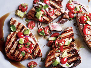 Seared Tuna with Avocado Salsa