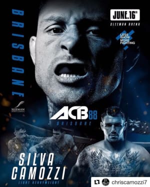Up next for Chris Camozzi - ACB MMA!!!