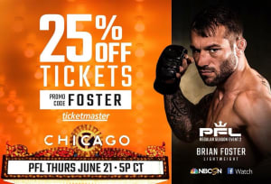 Use promo code #FOSTER to get 25% off Brian Foster | ProFightLeague tickets for THIS THURSDAY!