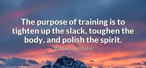 The purpose of training is...