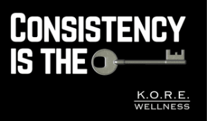 Personal Training in Columbia - K.O.R.E. Wellness - July's Challenge - Consistency is the key.