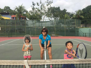 Personal Training in Singapore - Mums In Sync - Going Bananas with Tennis!