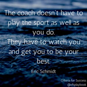 The coach doesn't have to...
