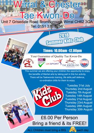 in Wirral - Wirral & Chester Taekwondo - Summer Kids Club