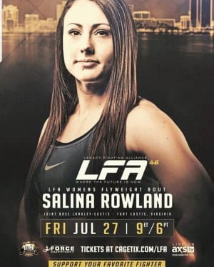 It's LFA: Legacy Fighting Alliance PRO DEBUT FIGHT WEEK for Salina Rowland!!!!!!
