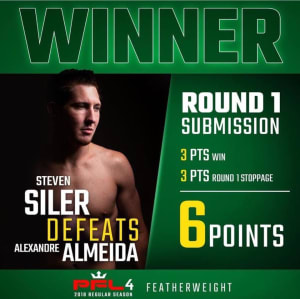 Super Steve Siler WINS VIA GUILLOTINE CHOKE at ProFightLeague on NBC Sports!!!!!!