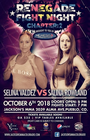 Salina Rowland FIGHT ANNOUNCEMENT!!!