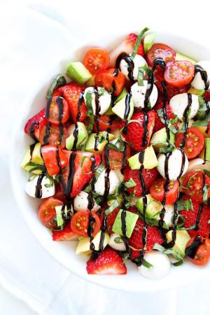 Avocado + Strawberries = Amazing Caprese Salad