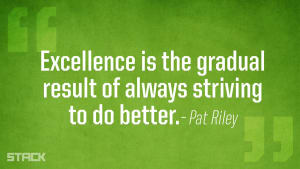 Excellence is...
