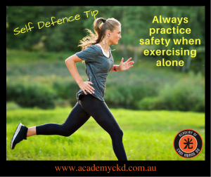 in Townsville - Academy Of Choi Kwang Do - Self Defence Tips - Safety when exercising outdoors