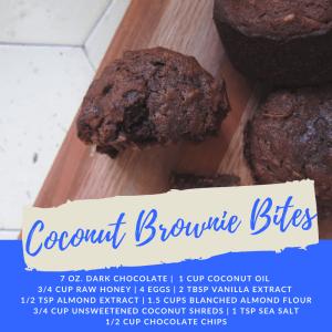 Recipe of the Week: Coconut Brownie Bites
