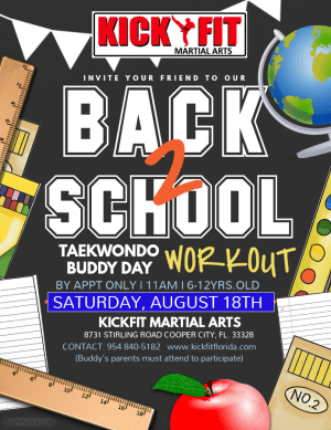 Back To School Taekwondo Class - in Cooper City