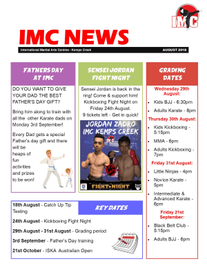 in St Clair, Kemps Creek & Hoxton Park - International Martial Arts Centres - IMC News - August 2018
