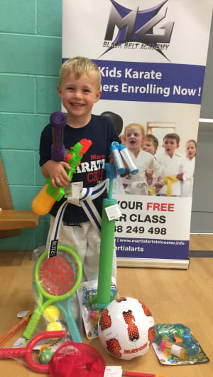 in Leicester - MG Black Belt Academy -   Superstar at our karate club  Children's martial arts in Leicester