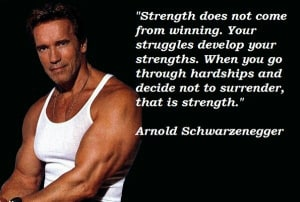 Strength does not come from...