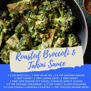 Recipe of the Week: Roasted Broccoli & Tahini Sauce