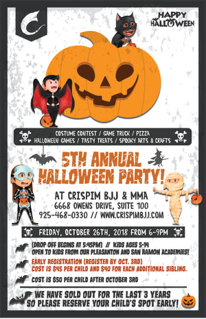 in 	 Pleasanton - Crispim BJJ & MMA - 5th Annual Halloween Party at Crispim BJJ & MMA