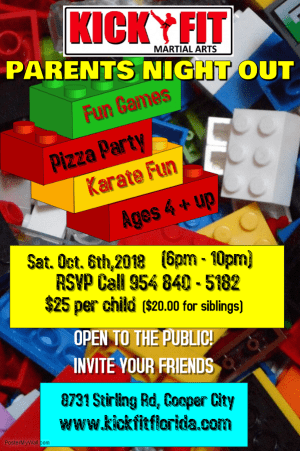 KICKFIT Parent's Night Out Party - Cooper City