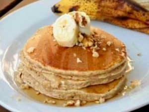 Banana porridge pancakes