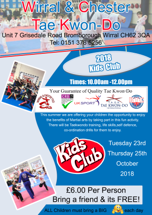 Half term kids clubs