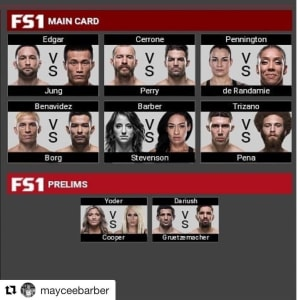 Maycee Barber makes it on the main card fo UFC DENVER!