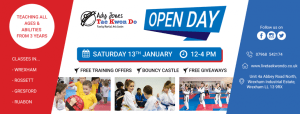 Come Along to our Open Day Saturday January 13th between 12 & 4pm