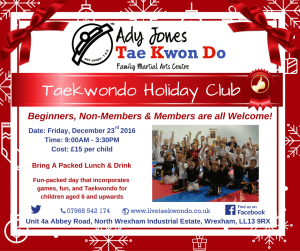Christmas Holiday Club…..