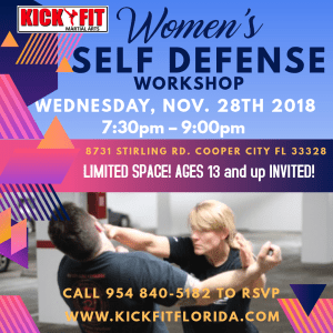 Women's Self Defense Workshop - Open to the Public of Cooper City/ Davie/ Weston