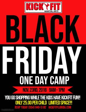 Black Friday One Day Camp - All Cooper City/Davie/Weston kids invited