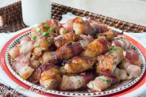 Sugar Free Sweet & Spicy Bacon Chicken Bites