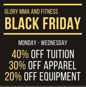 in Kansas City - Glory Mixed Martial Arts & Fitness  - Black Friday Week Specials