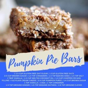 Recipe of the Week: Pumpkin Pie Bars