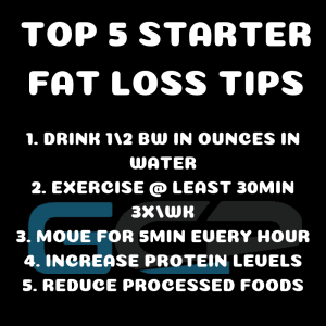 Top 5 Starter Fat Loss Tips