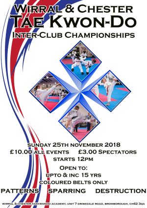 in Wirral - Wirral & Chester Taekwondo - Inter Club Championships