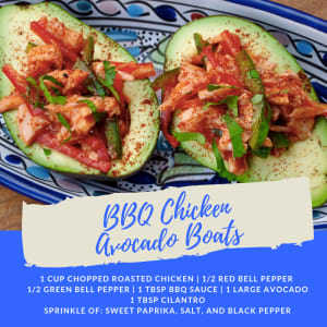 Recipe of the Week: BBQ Chicken Avocado Boats