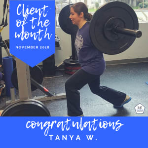 November's Client of the Month: Tanya