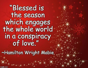 Blessed is the season which...