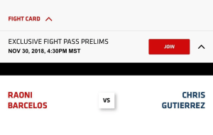 Chris Gutierrez FIGHT INFO: