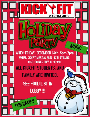 in Cooper City - Kick Fit Martial Arts - KICKFIT HOLIDAY PARTY - Cooper City / Davie / Weston