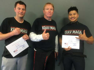 Eric and Richard Newest Krav Maga Black Belts