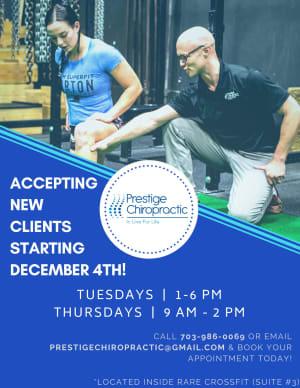 Prestige Chiropractic and RARE CrossFit Fredericksburg, Spotsylvania, and Stafford's premier CrossFit Facility!