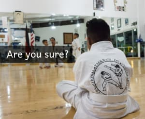 in Davie and Cooper City - Traditional Taekwon-Do Center Of Davie - Want to Quit Taekwondo?