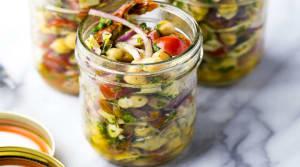 Recipe Of The Week: Mediterranean Chickpea Salad Jars