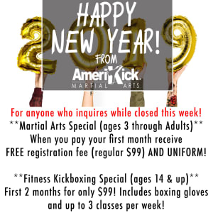 Special for Holiday & New Year week closing!