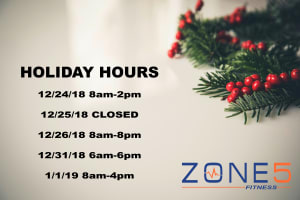 Group Fitness in Boston - Zone 5 Fitness - Holiday Hours